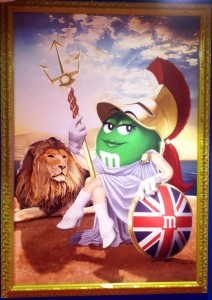 Britannia welcomes us to M&M's World.